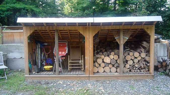 Rustic DIY. My no-plans approach resulted in a rustic look for my cedar wood shed.