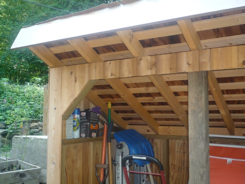I read a great article on FineHomebuilding.com that described how to layout and install the cedar shake roof.