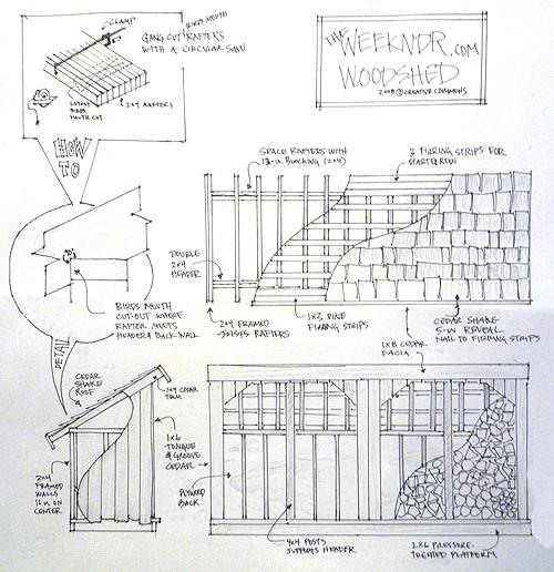 wood shed design plans