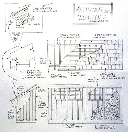 wood shed project plans