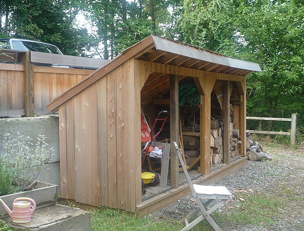 The Weekndr Woodshed. Built from scratch (an no plans).