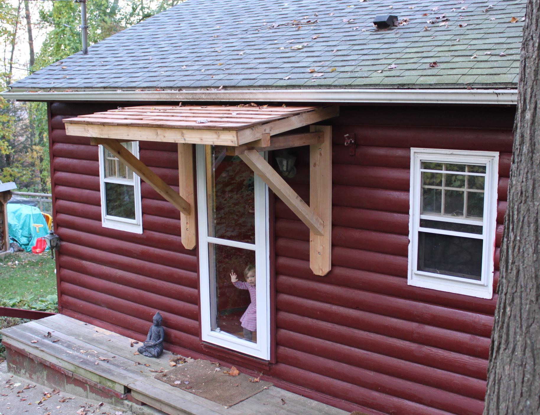 Merveilleux Build Wood Awning Over Door