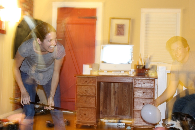 A ghostly image. Experimenting with f-stops on our new Canon Rebel T1i.