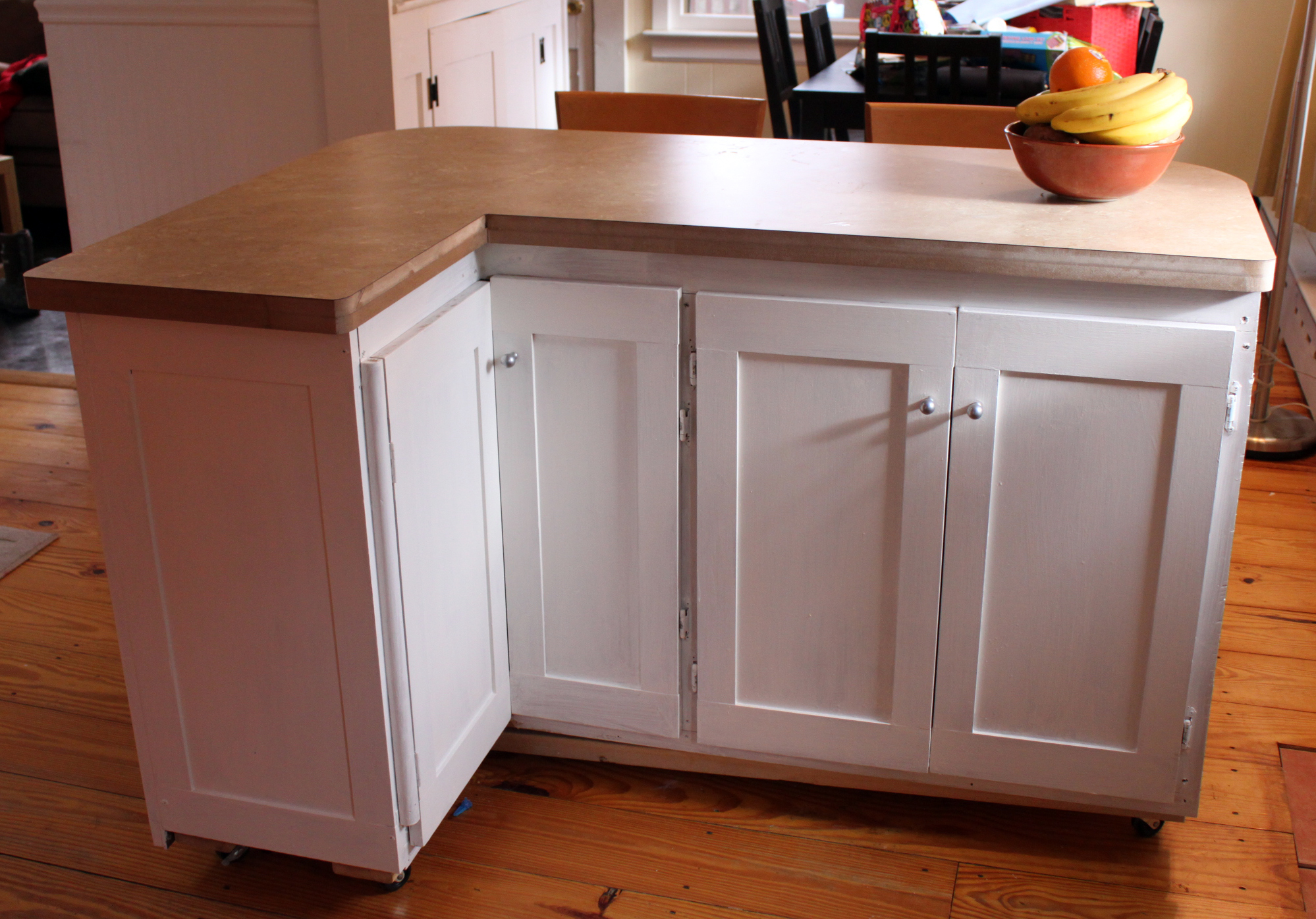 Weeknd project low budget kitchen renovation welcome to for Kitchen island cabinets