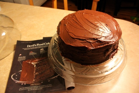 Southern Devil's Food Cake with Ganache Frosting
