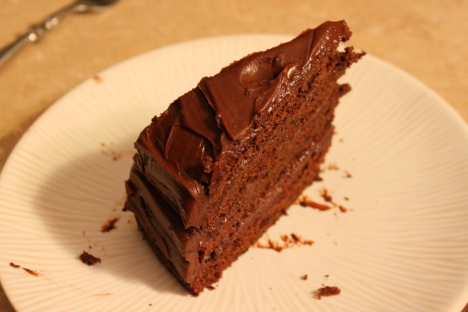 Southern Devil's Food Cake with Chocolate Ganache