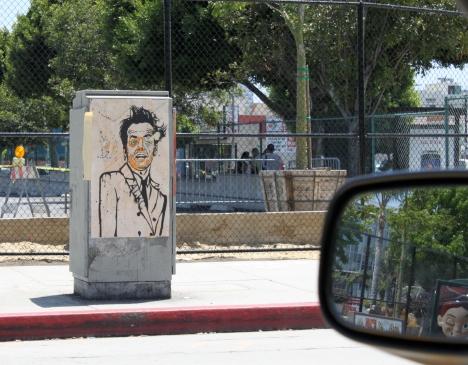 jack nicholson sidewalk art