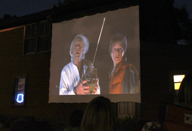 Back To the Future, Movie Night in South Pasadena